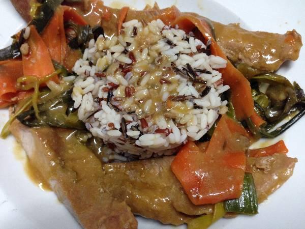 Cerdo con salsa oriental