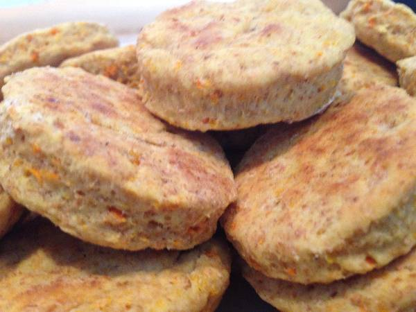 Scones de zanahorias y naranja light