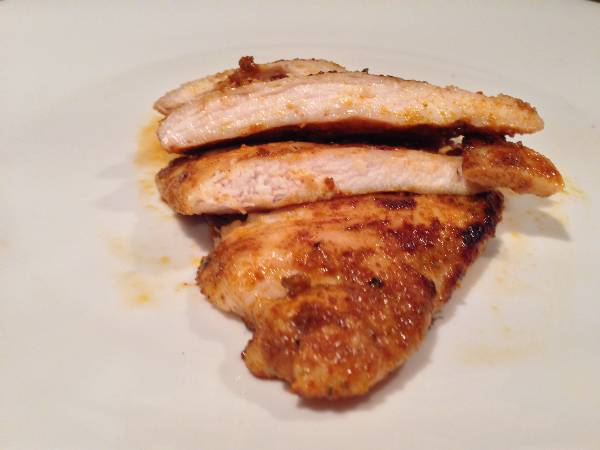 Pollo a la plancha con especias