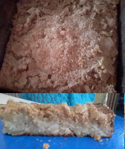 Torta de manzana con cubierta crocante