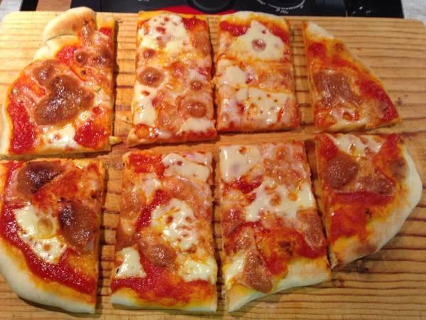 Pizza a la piedra