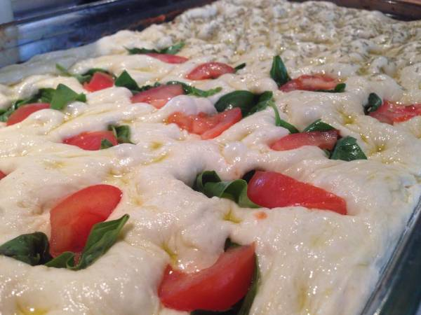 Focaccia o pan italiano
