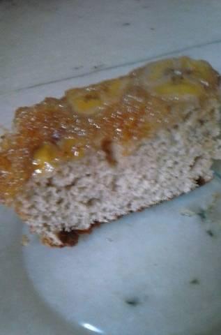 Torta invertida de banana