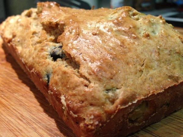 Pan integral de aceitunas