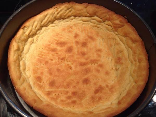 Cheesecake de queso relleno de dulce de leche