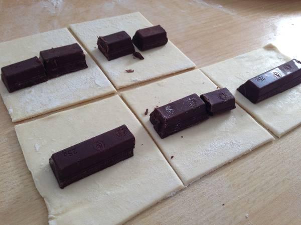 Napolitanas de chocolate
