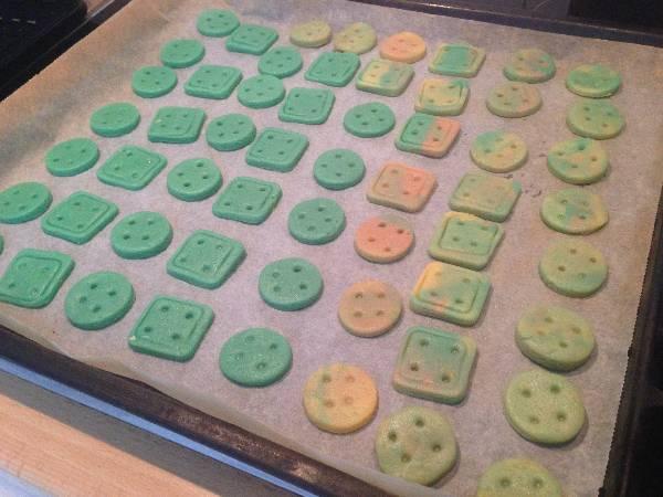 Galletitas botones de colores