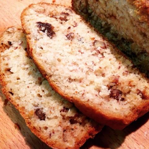 Pan de plátano nueces y ciruelas pasas